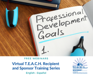 Virtual T.E.A.C.H. Recipient and Sponsor Training Series
