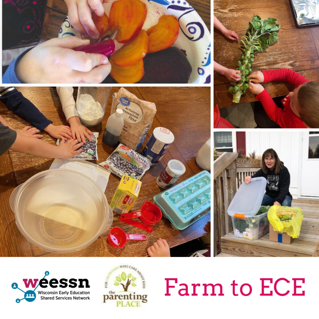 Logo: WEESSN, The Parenting Place, Text: Farm to ECE